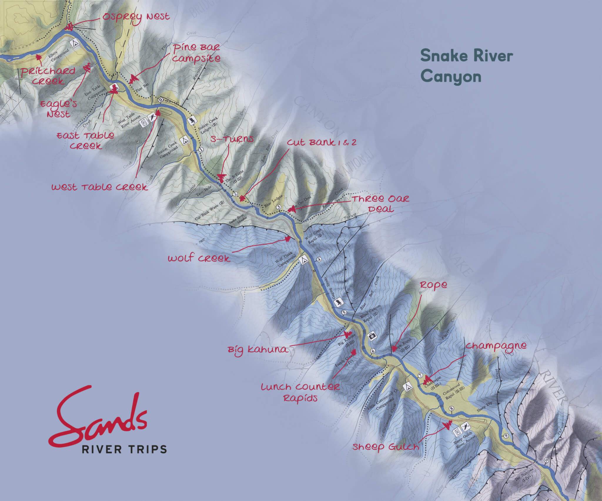 River Map | SandsWhitewater.com